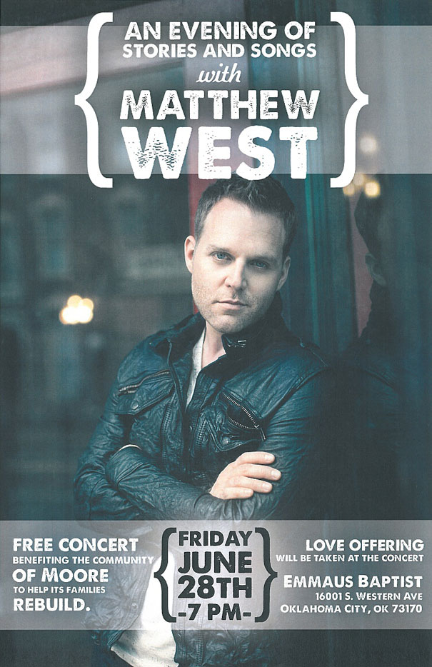 Free benefit concert with Matthew West