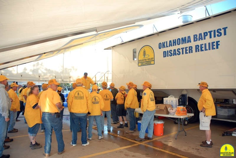 Oklahoma Baptist Disaster Relief Team serving flood victims in Colorado