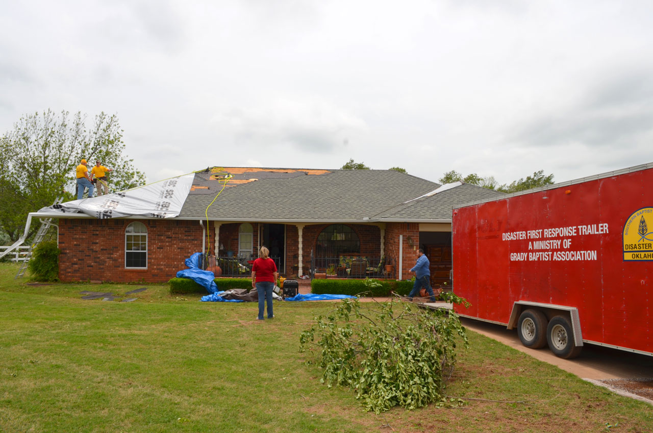 Oklahoma Baptists prepared 6,950 meals to storm victims